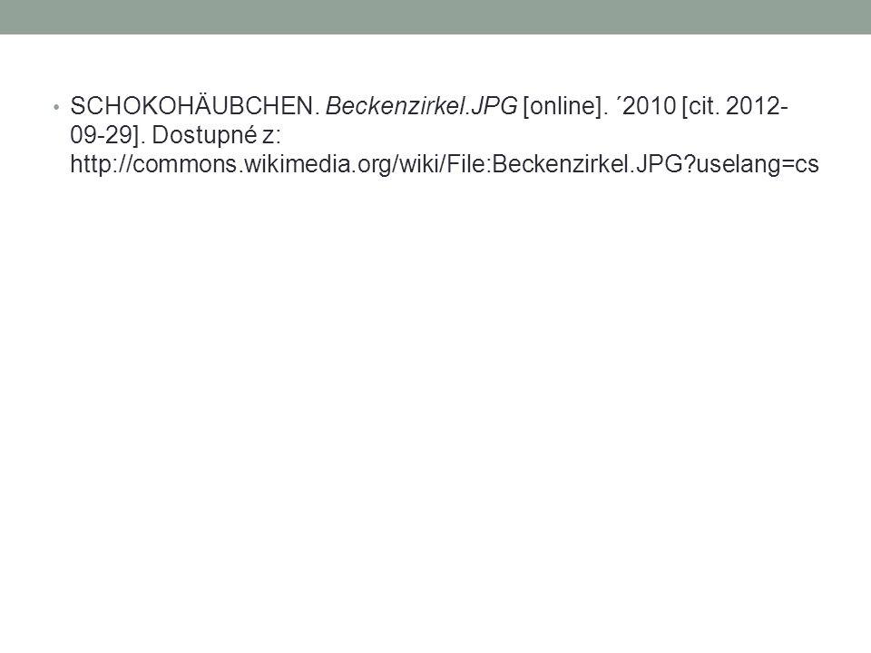 SCHOKOHÄUBCHEN. Beckenzirkel. JPG [online]. ´2010 [cit. 2012-09-29]